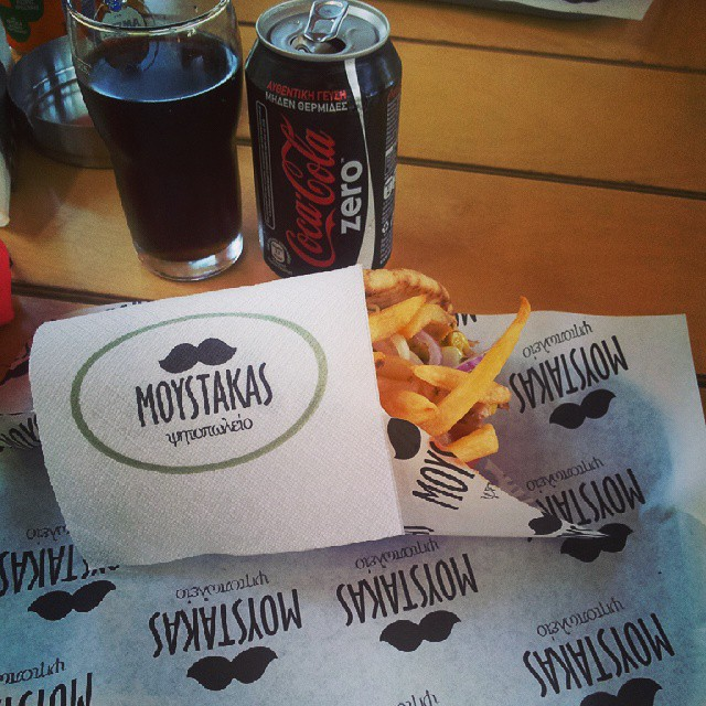 #moystakas#brkovi#gyros#cocacolazero #greekbar #GREECE