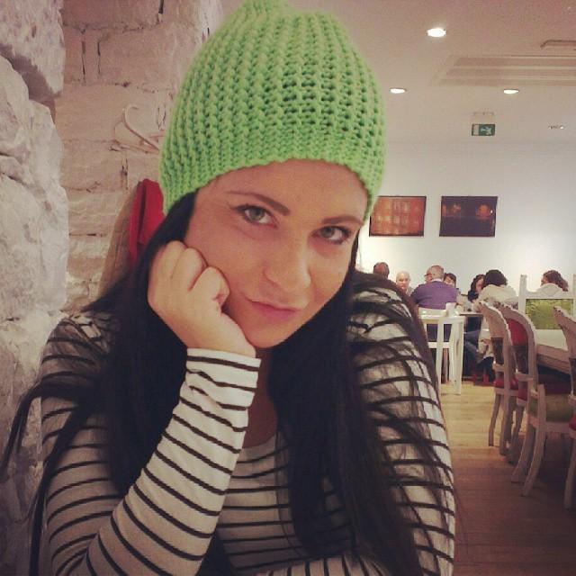 #italy#trieste#winter#bennie#hat#coffietime #fun