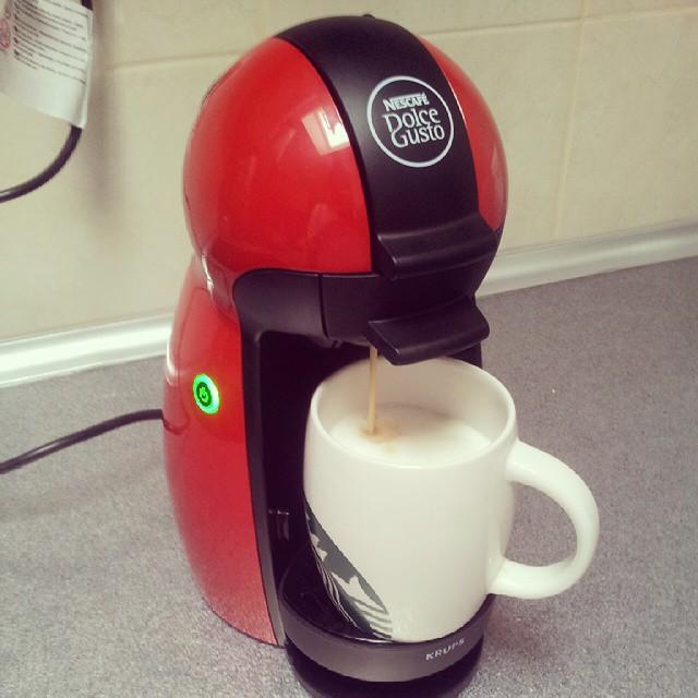 #dolcegusto #goodmorning #caffe #nescafe #cappuccino Da se proba!!! I'm lovin' it!!!