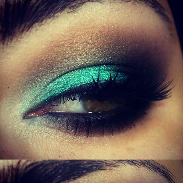#eyemakeup#makeup #shadows#eye#turqoise Probacu