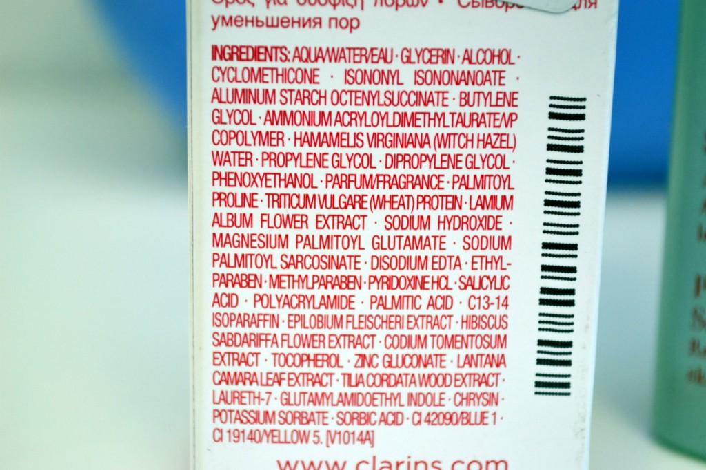 sastav clarins seruma